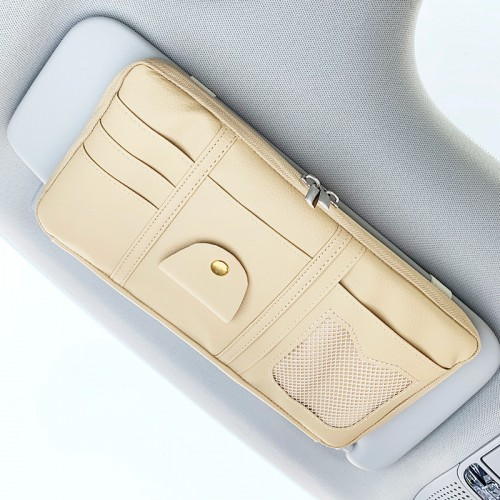 Покупка  Автомобильный органайзер Car Sun Visor. Бежевый  в  Интернет-магазин Zelenaya Vorona™