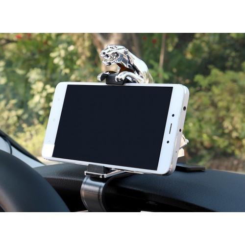 Держатель для телефона в автомобиль Леопард. Серебро  в  Интернет-магазин Zelenaya Vorona™ 2