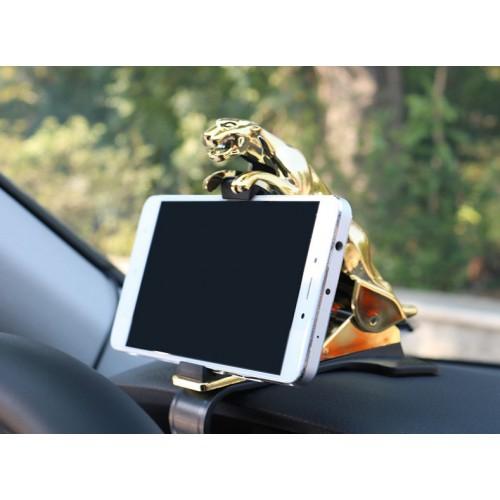 Держатель для телефона в автомобиль Леопард. Золото  в  Интернет-магазин Zelenaya Vorona™ 1
