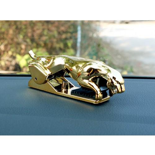 Держатель для телефона в автомобиль Леопард. Золото  в  Интернет-магазин Zelenaya Vorona™ 3