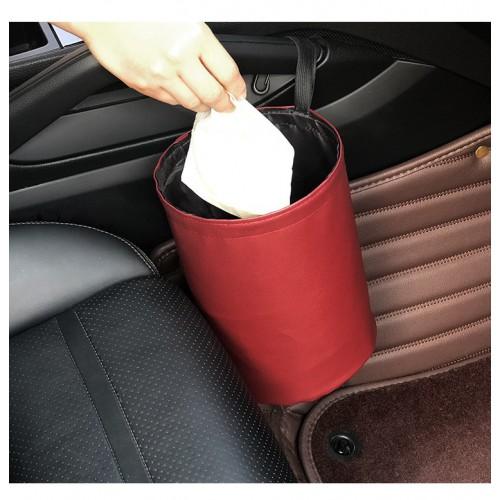 Складное мусорное ведро в автомобиль Car folding bucket. Серый  в  Интернет-магазин Zelenaya Vorona™ 2