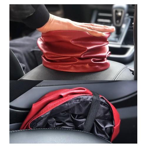 Складное мусорное ведро в автомобиль Car folding bucket. Серый  в  Интернет-магазин Zelenaya Vorona™ 4