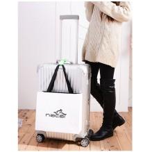 Ремень для крепления сумки к чемодану. Голубой