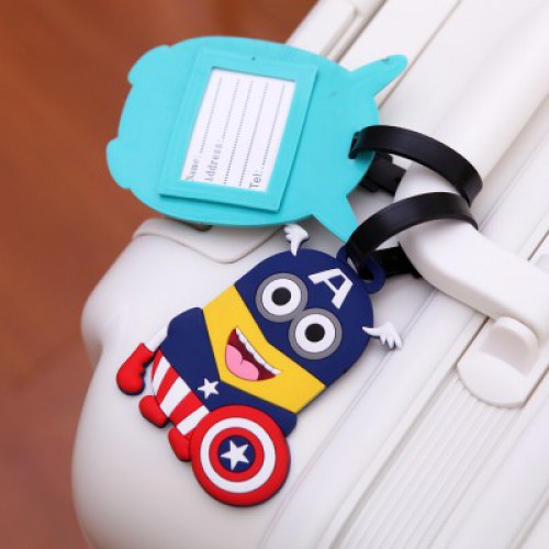 Бирка для чемодана Minions-Капитан Америка  в  Интернет-магазин Zelenaya Vorona™ 2