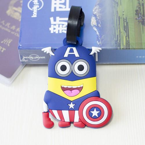 Бирка для чемодана Minions-Капитан Америка  в  Интернет-магазин Zelenaya Vorona™ 1