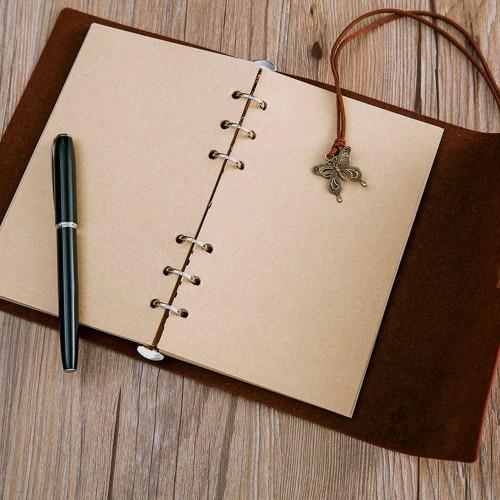 Винтажный блокнот Butterflies. Темно-красный  в  Интернет-магазин Zelenaya Vorona™ 3