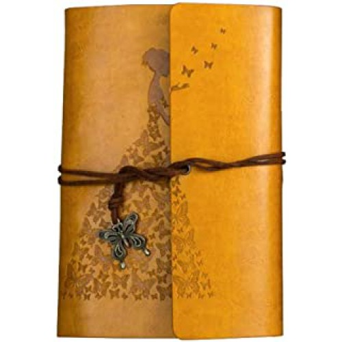 Покупка  Винтажный блокнот Butterflies. Желто-горчичный в  Интернет-магазин Zelenaya Vorona™