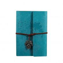 Винтажный блокнот Древо жизни. Голубой