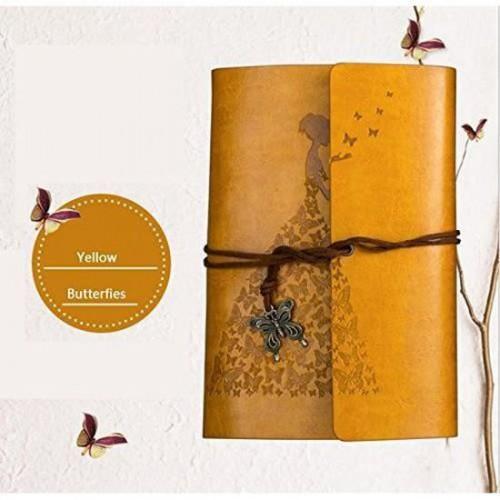 Винтажный блокнот Butterflies. Желто-горчичный  в  Интернет-магазин Zelenaya Vorona™ 1