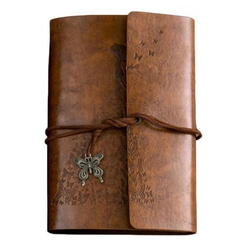 Покупка  Винтажный блокнот Butterflies. Коричневый в  Интернет-магазин Zelenaya Vorona™