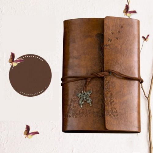 Винтажный блокнот Butterflies. Коричневый  в  Интернет-магазин Zelenaya Vorona™ 1