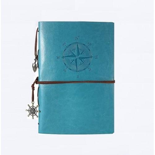 Покупка  Винтажный блокнот с якорем и штурвалом. Голубой в  Интернет-магазин Zelenaya Vorona™
