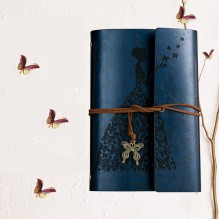 Винтажный блокнот Butterflies. Темно-синий