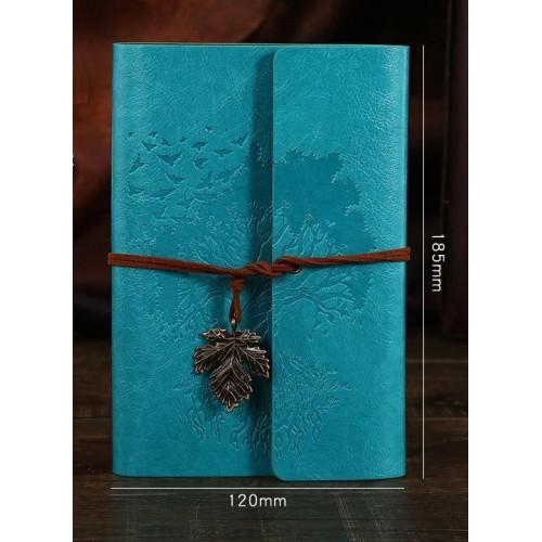 Винтажный блокнот Древо жизни. Голубой  в  Интернет-магазин Zelenaya Vorona™ 1