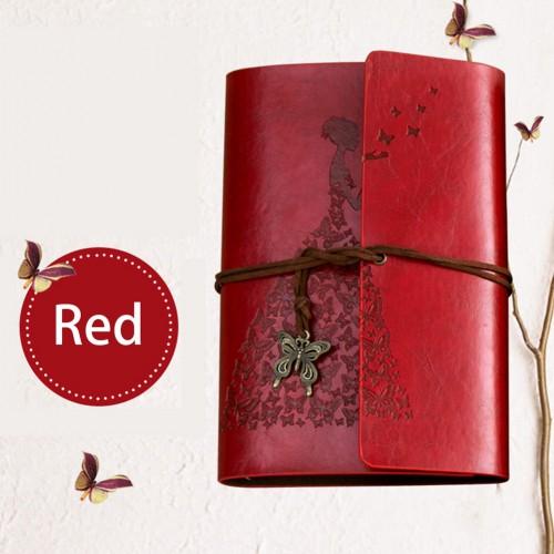 Винтажный блокнот Butterflies. Темно-красный  в  Интернет-магазин Zelenaya Vorona™ 1