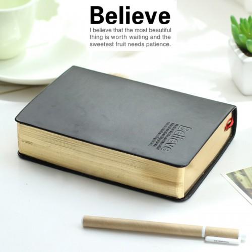 Покупка  Винтажный блокнот Believe Gold в  Интернет-магазин Zelenaya Vorona™