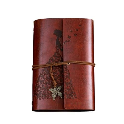 Покупка  Винтажный блокнот Butterflies. Красно-коричневый в  Интернет-магазин Zelenaya Vorona™