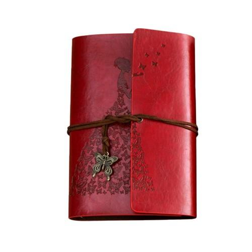 Покупка  Винтажный блокнот Butterflies. Темно-красный в  Интернет-магазин Zelenaya Vorona™