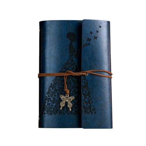 Покупка  Винтажный блокнот Butterflies. Темно-синий в  Интернет-магазин Zelenaya Vorona™