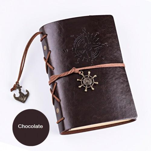 Покупка  Винтажный блокнот с якорем и штурвалом. Шоколад в  Интернет-магазин Zelenaya Vorona™