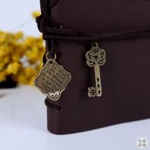 Винтажный блокнот с ключиком