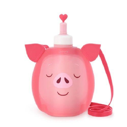 Покупка  Детская бутылка для воды Джумони силиконовая. Пятачок в  Интернет-магазин Zelenaya Vorona™