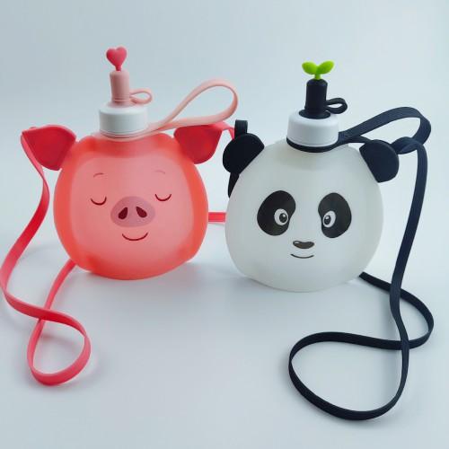 Детская складная бутылочка для воды Джумони. Панда  в  Интернет-магазин Zelenaya Vorona™ 4