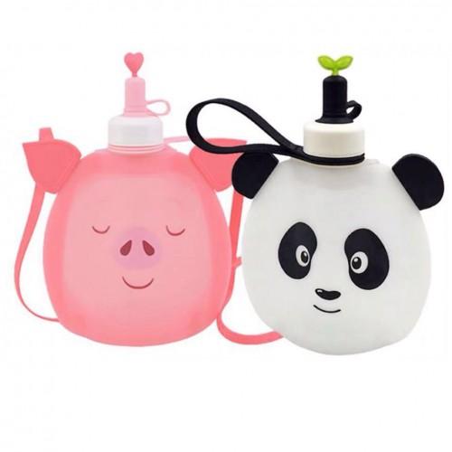 Детская складная бутылочка для воды Джумони. Панда  в  Интернет-магазин Zelenaya Vorona™ 1