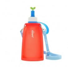 Силиконовая складная бутылка для воды Джумони. Красная