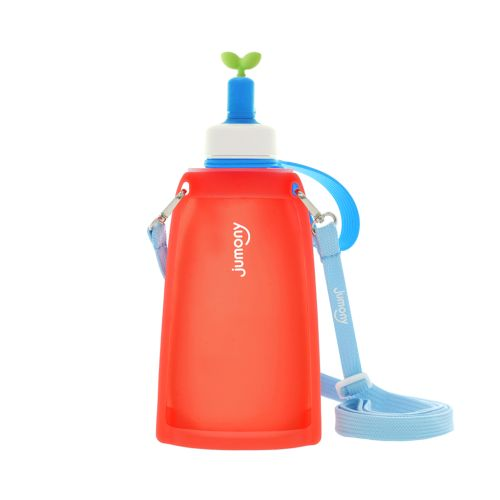 Покупка  Силиконовая складная бутылка для воды Джумони. Красная в  Интернет-магазин Zelenaya Vorona™