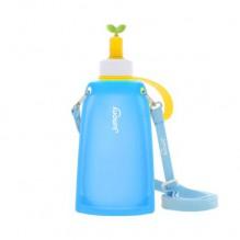 Силиконовая складная бутылка для воды Джумони. Синяя