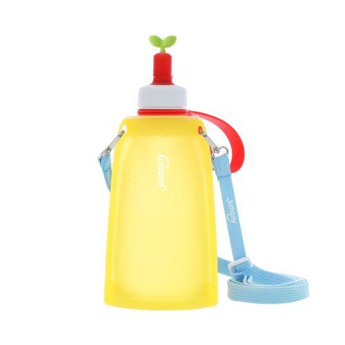 Покупка  Силиконовая складная бутылка для воды Джумони. Желтая в  Интернет-магазин Zelenaya Vorona™