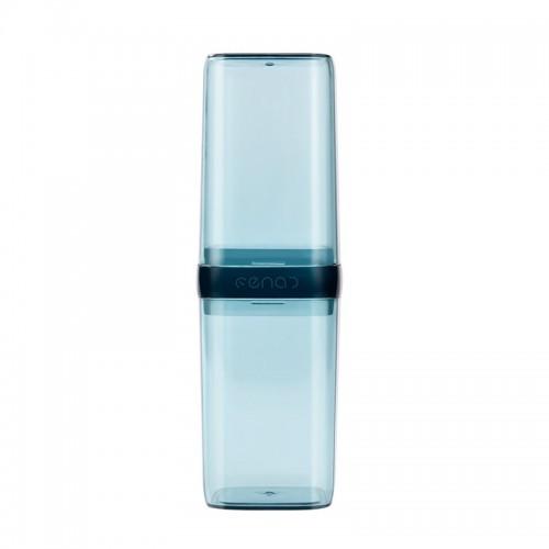 Покупка  Дорожный футляр для зубной щетки и пасты. Прозрачный/Синий в  Интернет-магазин Zelenaya Vorona™