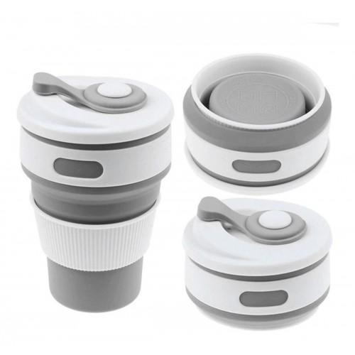 Покупка  Складная силиконовая чашка Collapsible. Серая в  Интернет-магазин Zelenaya Vorona™