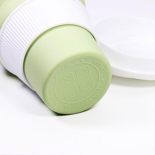 Складная силиконовая чашка Collapsible. Mustard Green  в  Интернет-магазин Zelenaya Vorona™ 5