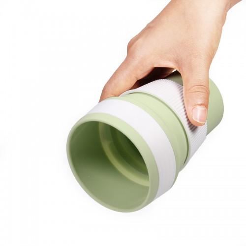 Складная силиконовая чашка Collapsible. Mustard Green  в  Интернет-магазин Zelenaya Vorona™ 2