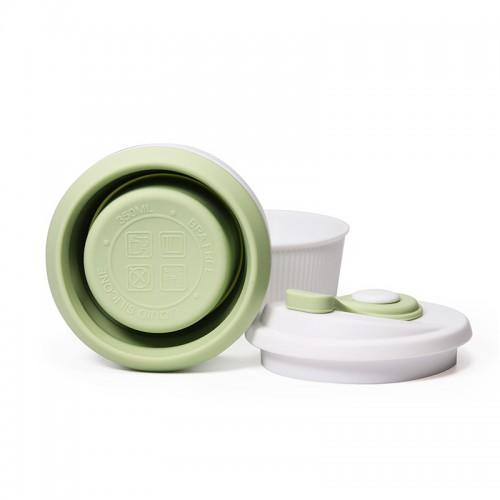 Складная силиконовая чашка Collapsible. Mustard Green  в  Интернет-магазин Zelenaya Vorona™ 4