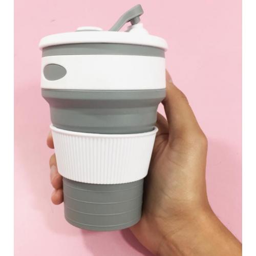 Складная силиконовая чашка Collapsible. Серая  в  Интернет-магазин Zelenaya Vorona™ 1