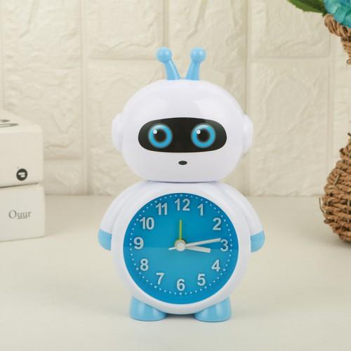 Покупка  Детские настольные часы-будильник Робот Кибер в  Интернет-магазин Zelenaya Vorona™