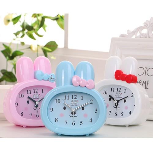 Детские настольные часы-будильник Зайчик. Розовый  в  Интернет-магазин Zelenaya Vorona™ 2