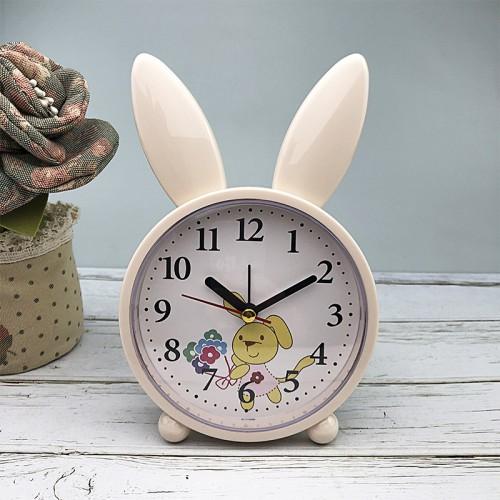 Покупка  Детские настольные часы-будильник Милый кролик. Кремово-желтый в  Интернет-магазин Zelenaya Vorona™