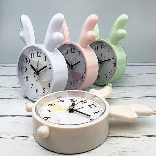 Детские настольные часы-будильник Олененок. Кремово-желтый  в  Интернет-магазин Zelenaya Vorona™ 1