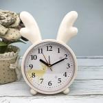 Детские настольные часы-будильник Олененок. Кремово-желтый
