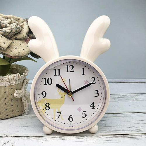 Покупка  Детские настольные часы-будильник Олененок. Кремово-желтый в  Интернет-магазин Zelenaya Vorona™