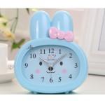 Детские настольные часы-будильник Зайчик. Синий