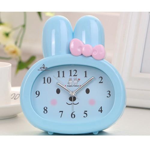 Покупка  Детские настольные часы-будильник Зайчик. Синий в  Интернет-магазин Zelenaya Vorona™