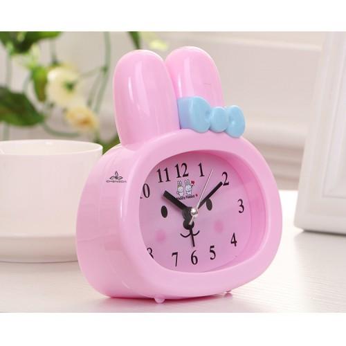 Детские настольные часы-будильник Зайчик. Розовый  в  Интернет-магазин Zelenaya Vorona™ 1