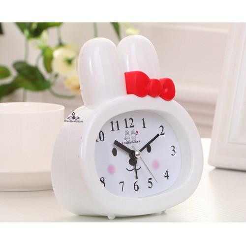Детские настольные часы-будильник Зайчик. Белый  в  Интернет-магазин Zelenaya Vorona™ 1