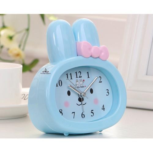 Детские настольные часы-будильник Зайчик. Синий  в  Интернет-магазин Zelenaya Vorona™ 1