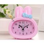 Детские настольные часы-будильник Зайчик. Розовый
